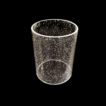 High transparency seedy glass shade, high quality, L13cm*D10cm T3mm, for wall lamps, lantern, home decor, tube shape