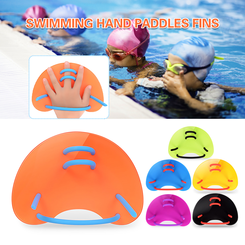 Adults Children Training Swimming Paddles Fins Adjustable Swim Training Hand Paddles Swimming Pool Diving Gloves Fins Flippers