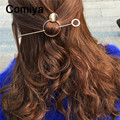 2017 Vintage retro hair jewelry accessories for women famous brand zinc alloy round circle charm haripins bolsa feminina hairpin
