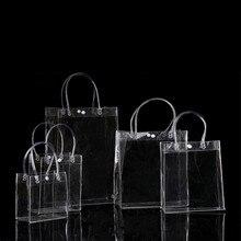 HOT 20pcs/LOT 20*28*10CM Waterproof transparent gift bag plastic bag