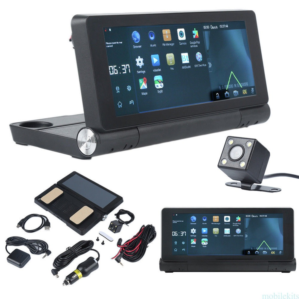VEHEMO 7 Inchs Double Camera Car DVR 3G GPS Navigator Record HD Video Touch Screen G