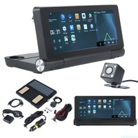 Vehemo 7 дюймов двойной Камера Видеорегистраторы для автомобилей 3G GPS навигатор записи HD видео Сенсорный экран G Сенсор Глобальный Географичес