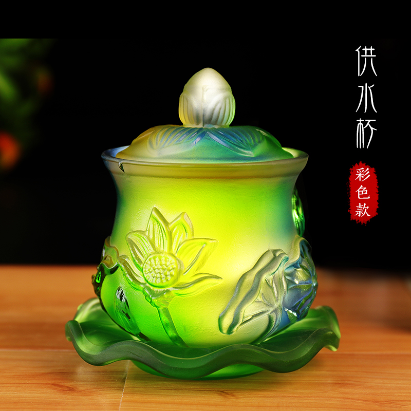 Wholesale Buddhist articles rite CUP Tibetan Buddhism ceremonies worship HUFA Holy water Colored Glaze Lotus CUP -free shippingWholesale Buddhist articles rite CUP Tibetan Buddhism ceremonies worship HUFA Holy water Colored Glaze Lotus CUP -free shipping