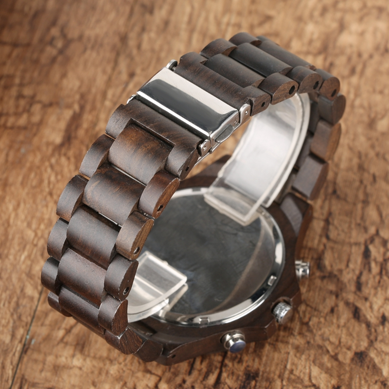 Retro Wood Men Watches Clock Man Gear Cover Top Brand Luxury Stylish Chronograph Watches Timepieces Relogio Masculino 2019 2020 2022 (5)