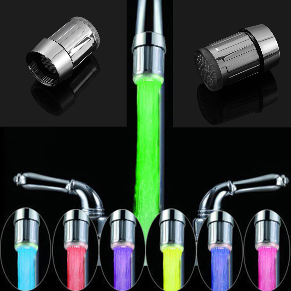 Glorious Water Flow Power no Battery Led Shower Automatic Temperature Control Romantic 7 Colors Bathroom Led Shower Head Free Shipping Beautiful In Colour