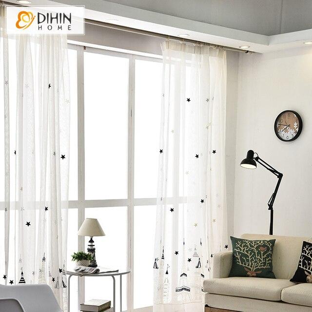 baumwolle gardinen gardine raffgardine raffrollo weiss wei monogramm von photo landhaus. Black Bedroom Furniture Sets. Home Design Ideas
