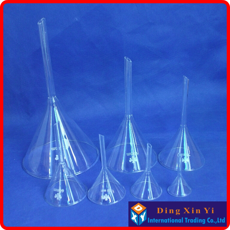30/40/50/60/75/90/120mm Transparent Glass Triangle Funnel Lab Glassware Laboraotry Chemistry Educational Stationery