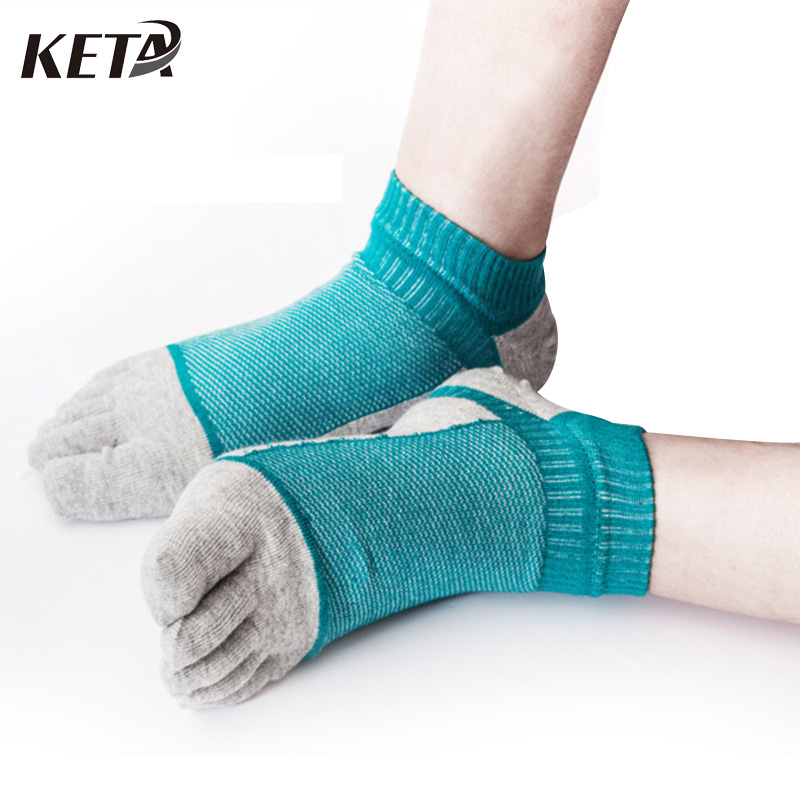6Pair New Style Summer Short Ankle Socks Men Brand Cotton Toe Socks Male Colorful Five Finger Socks Men Dress Business Socks