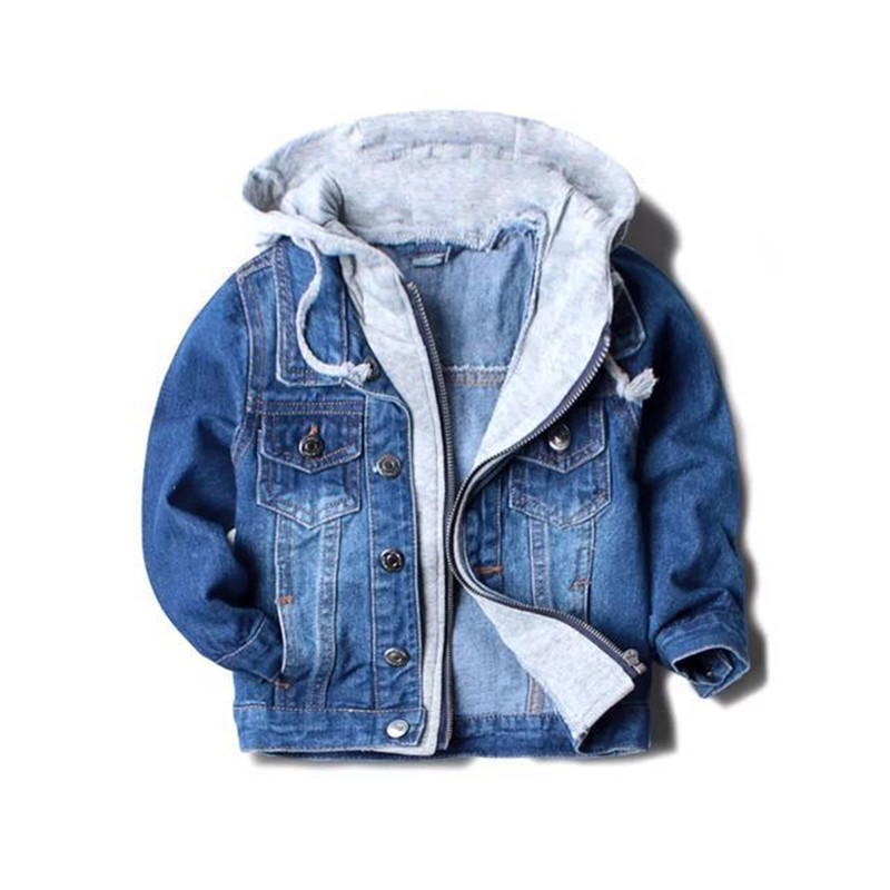 Handsome boy jackets coats hooded children kids spring&autumn baby boys denim jackets fashion coats kids outwear high qulity spring autumn kids motorcycle leather jacket black boys moto jackets clothes children outwear for boy clothing coats costume page 4