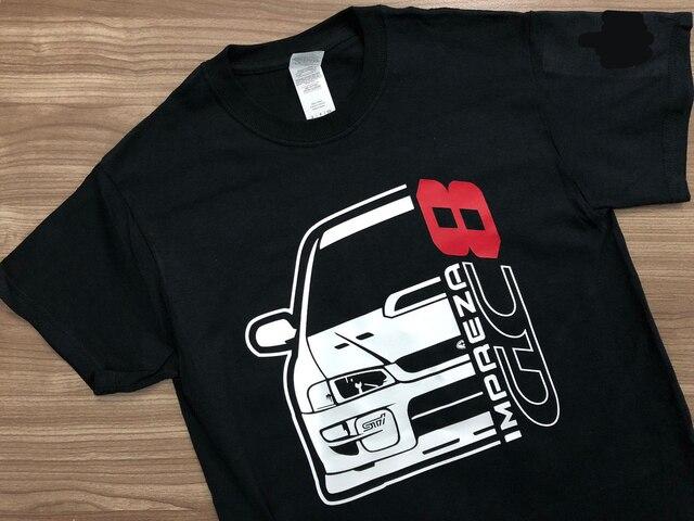 Nouveaux hommes T Shirt mode hommes marque Fitness Slim Fit japon voiture Impreza Gc8 T Shirt impression chemise