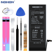 NOHON Lithium Battery For Apple iPhone 6S 6 7 5S 5 Replacement Batteries Internal Phone Bateria 2060mAh 2265mAh + Free Tools cheap EMC MSDS KC CE RoHS WEEE UL PCT For iPhone 6S 6 5S 5 7 Battery Compatible 2201mAh-2800mAh Apple iPhones For iPhone Original Battery