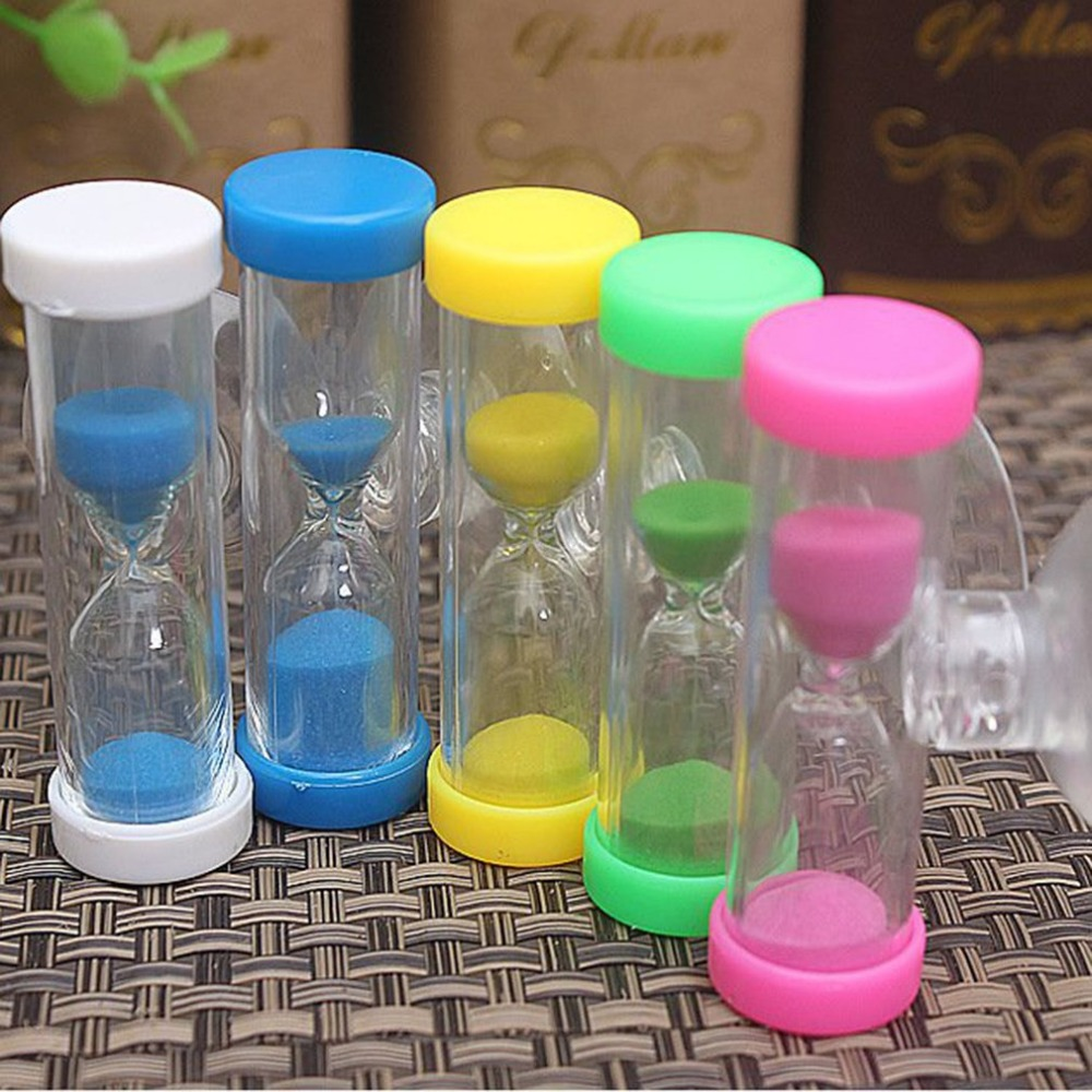 1Pc 2 minutes hourglass children Sand Timer brush  Mini timer creative exquisite small gifts herramientas para el aseo de la casa