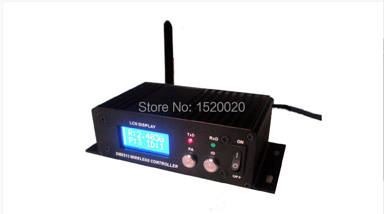 New Wireless Dmx Controller 2.4G Wireless Receiver & Transmitter With Antenna Dmx 512 Signal Relay Wireless Lighting Controller