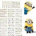 11 hoja 11 estilos BLE1852-1862 Nail Art Water Transfer Sticker tatuajes de color amarillo diseño de dibujos animados pegatinas Wraps consejos decoración