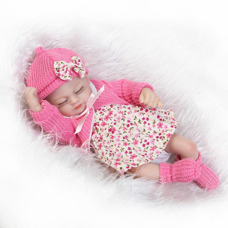 New 26cm 10 inch Lovely Mini cute Reborn Babies child Realistic Lifelike Full Vinyl handcraft Newborn Baby Doll For Kids toys