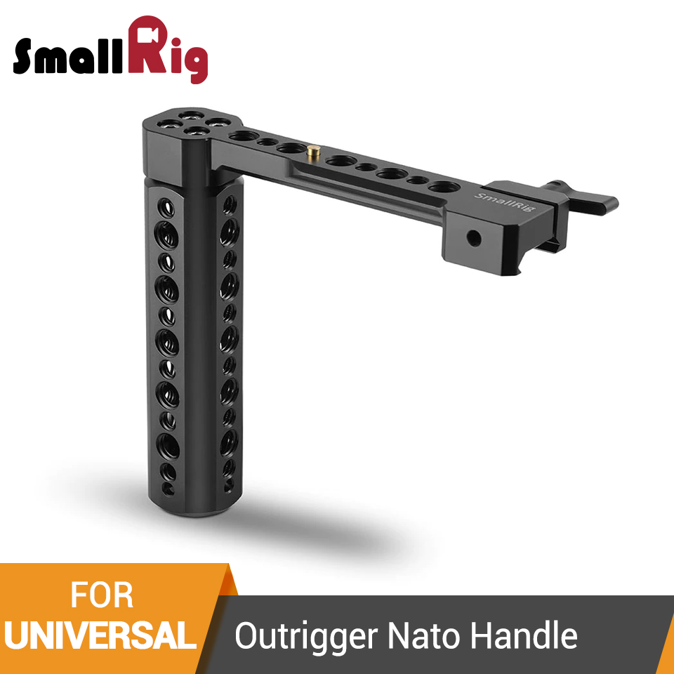 SmallRig Outrigger Nato Handle With 1/4 and 3/8 Threaded Holes For Universal Camera Cage/Monitor/Magic Arm -1534SmallRig Outrigger Nato Handle With 1/4 and 3/8 Threaded Holes For Universal Camera Cage/Monitor/Magic Arm -1534