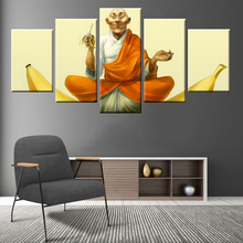 Modular 5 panel wall art HD print Buddha painting canvas poster decorative mural