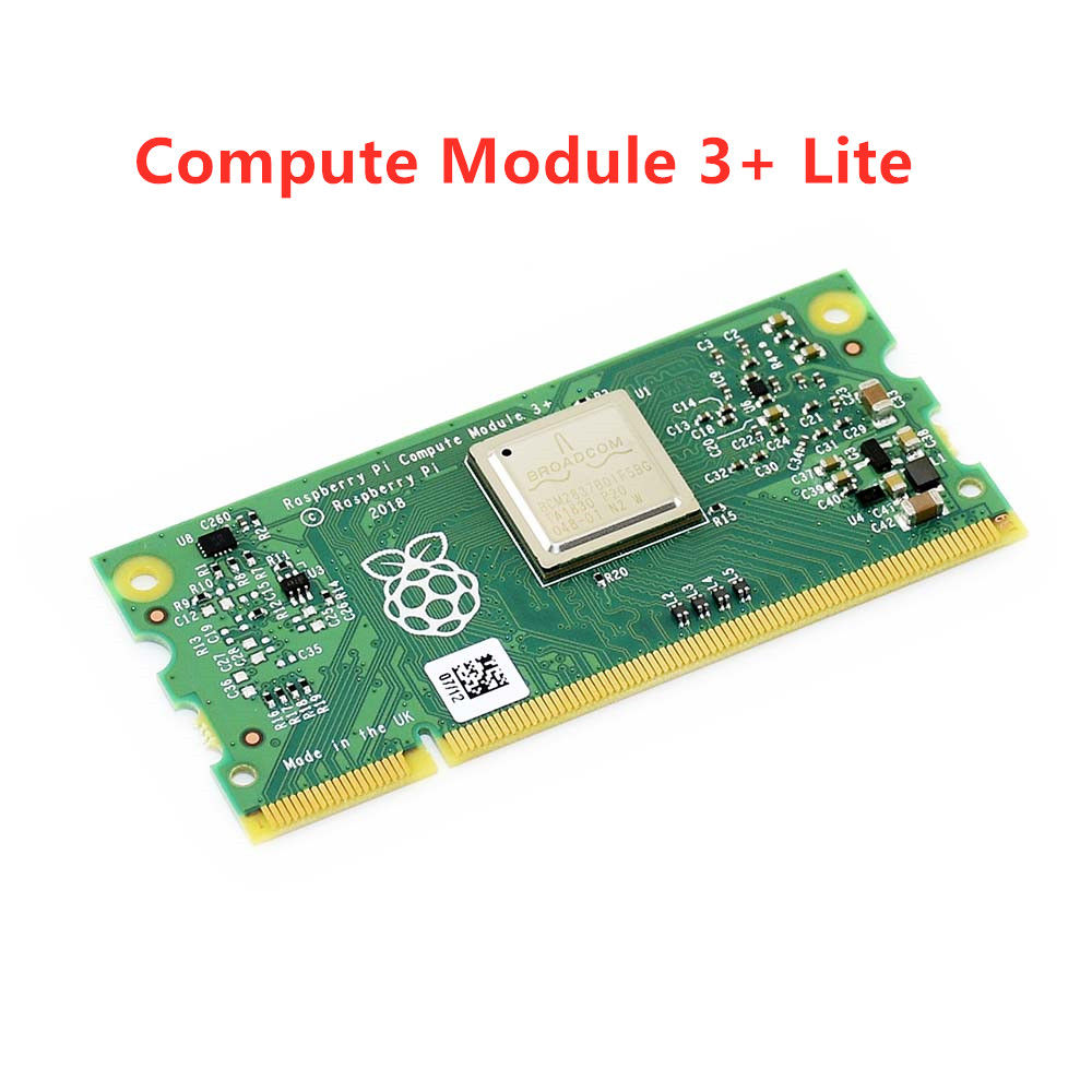 Module de calcul 3 +/Lite (CM3 +/Lite), Raspberry Pi 3 modèle B + dans un facteur de forme flexible, sans Flash eMMC intégré