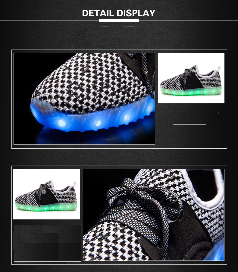 Led Sneakers YZY v2 Kids 3
