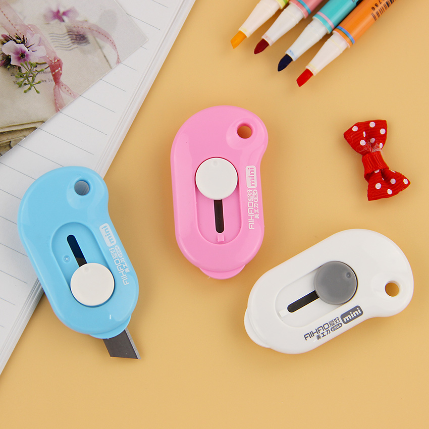 1PC Creative Portable Office to Learn Utility Knife Cutting Supplies Stationery Knifes Stainless Steel Office Art Knife 1