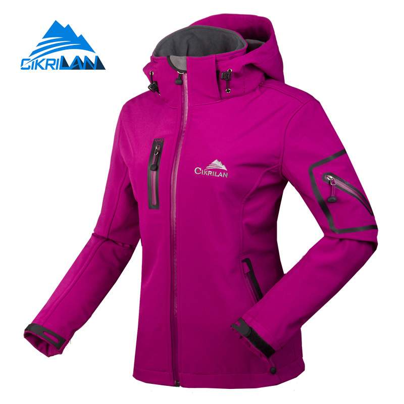 ФОТО Cikrilan Spring Water Resistant Windstopper Chaquetas Mujer Outdoor Sport Softshell Jacket women Camping Hiking Climbing Coat