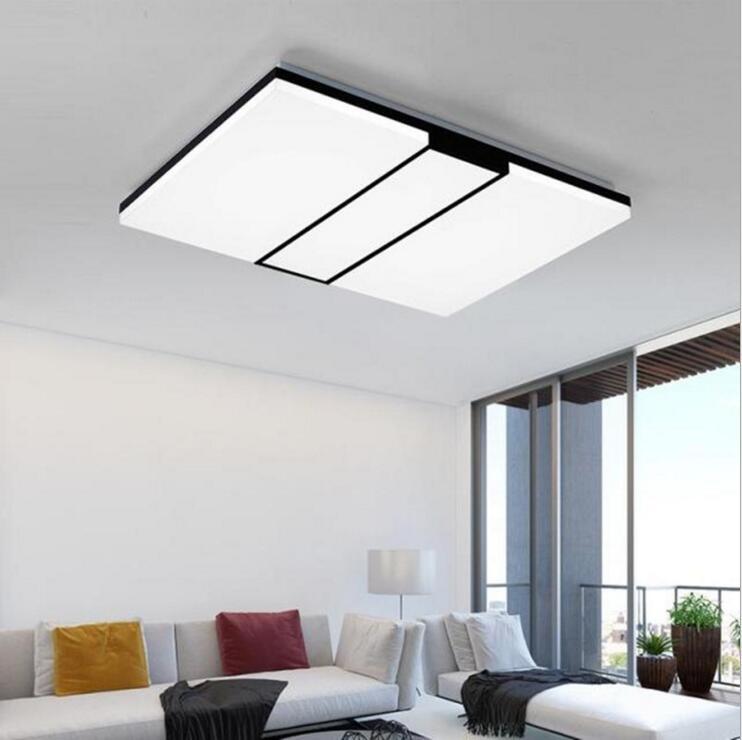 LED Deckenleuchten Wohnzimmer Licht Rechteckige Einfache Moderne Acryl Lampen Superbook Eisen Fernbedienung Schlafzimmer BeleuchtungChina
