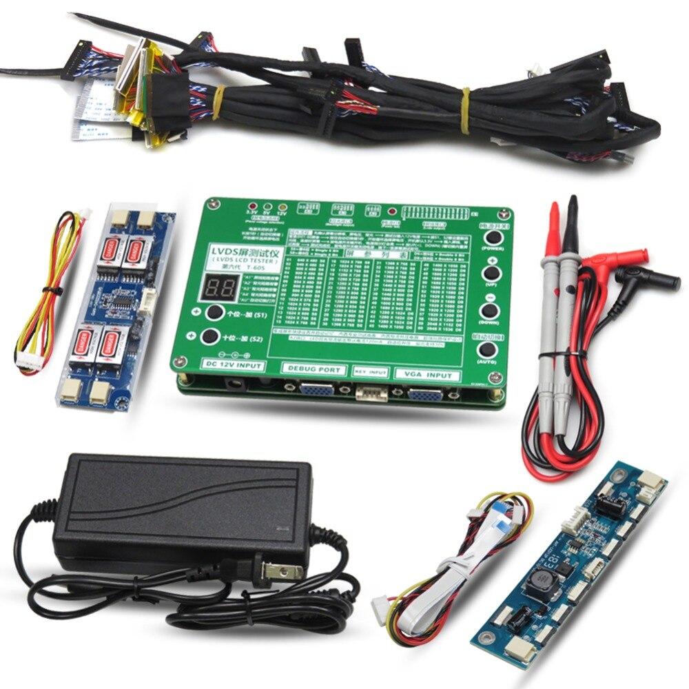 TKDMR новый инструмент для тестирования панели светодиодный ЖК экран тестер для ТВ/компьютера/ноутбука ремонтный инвертор Встроенный 55 видов