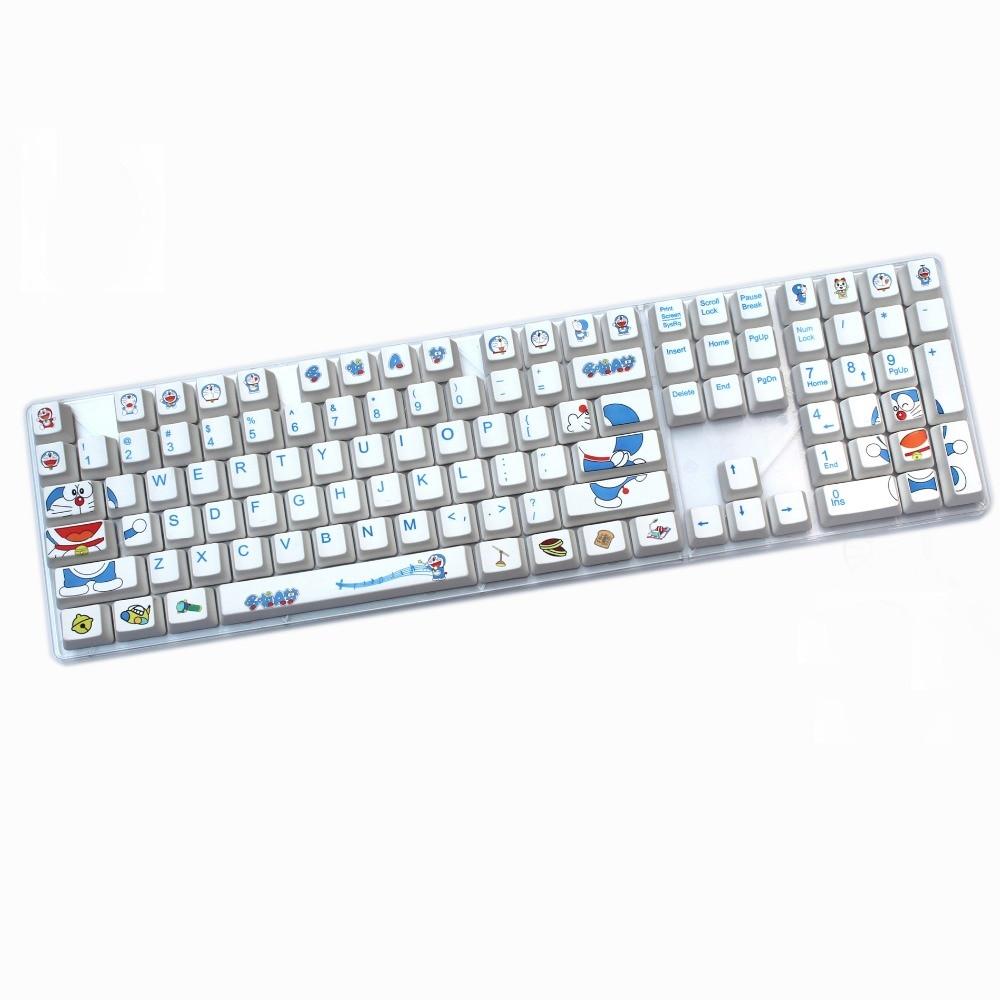 Doraemon 108 KEY Cherry profile PBT thick keycap Dye-Sublimated cherry MX switch Keycap mechanical keyboard keycap
