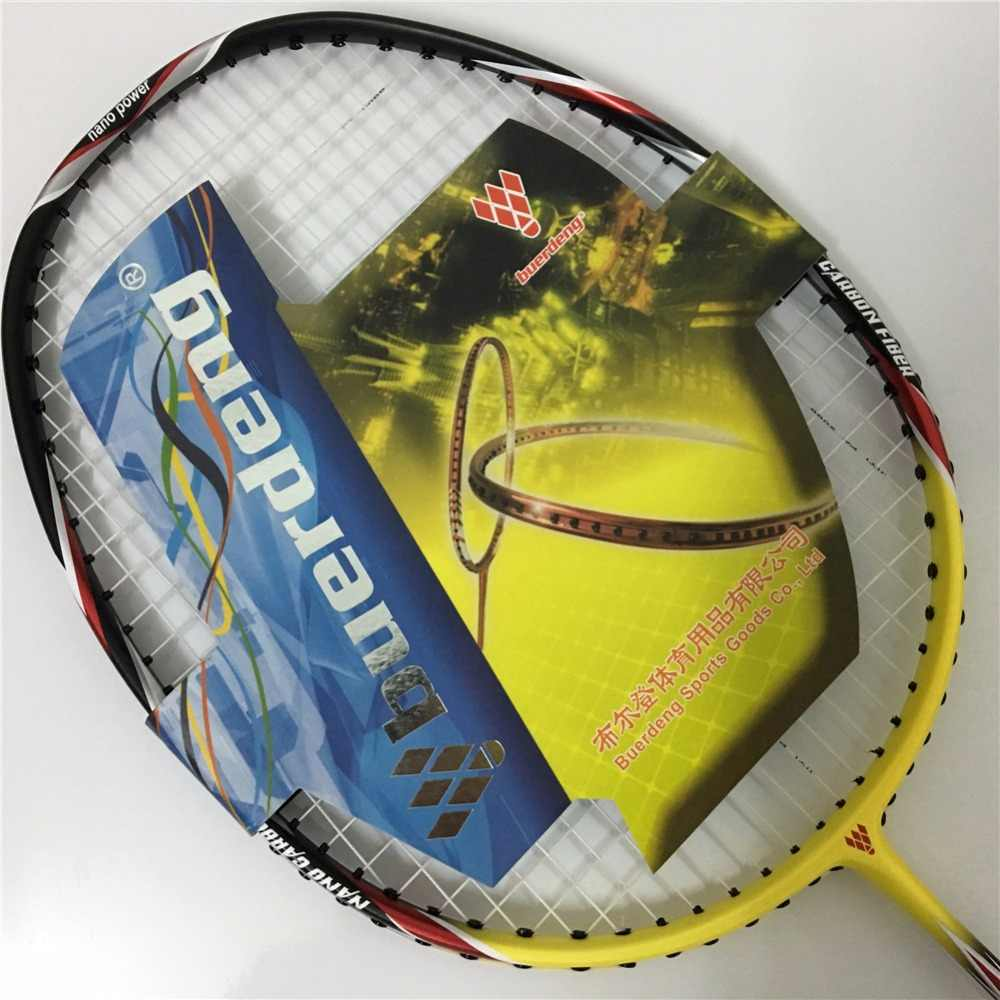 4U Professional badminton racket Head light badminton racket yellow rackets max 30Lbs