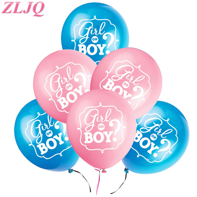 ZLJQ 10PCS Baby Blue Pink Girl Or Boy Balloons For Gender Reveal Party Supplies  Baby Shower
