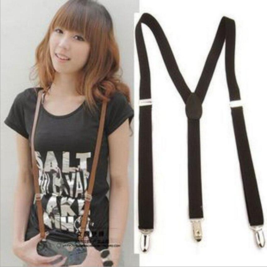 2016 New Fashion Elastic Brace Suspender Y Style Back Clip-on Belt for Adult and Child Mens Women Suspenders cinta modeladora