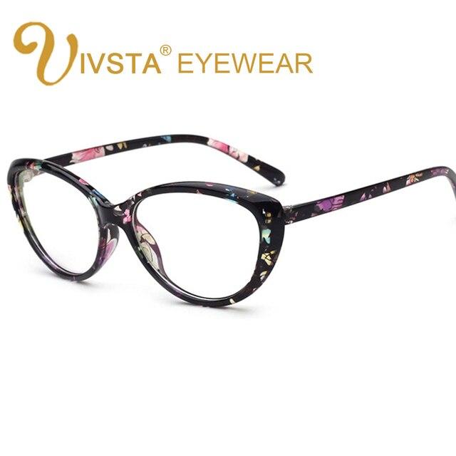 IVSTA Vidros Do Olho de Gato Mulheres Óculos Retro Flor Prescrição Frame  Ótico Do Vintage Na 70427231ef