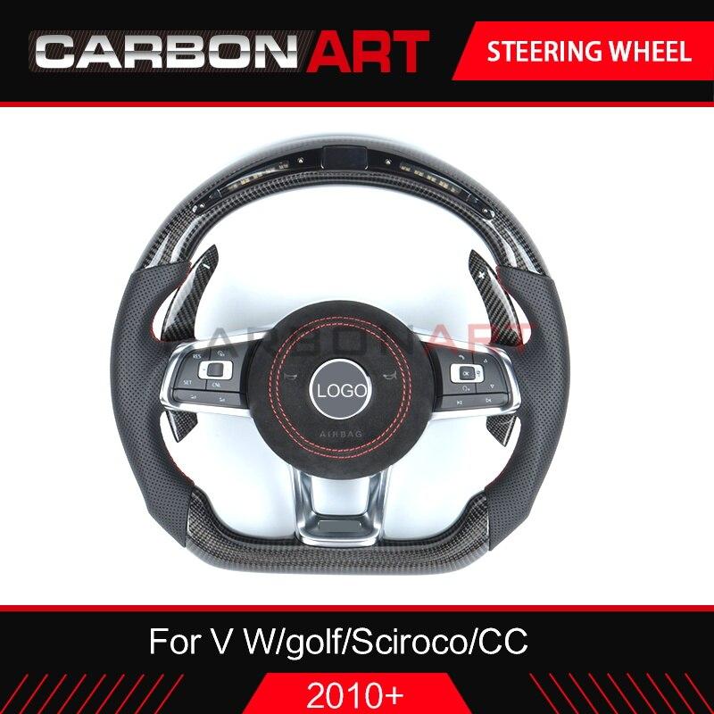 Светодиодный гоночный дисплей рулевого колеса для V W golf 6 golf 7 Scirocco детали для отделки автомобиля для CC Passat 2010 2013 golf 6 smart рулевого управления