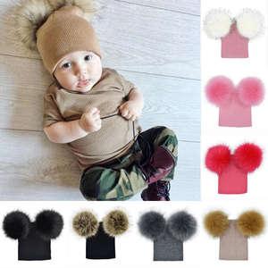 c42c000596f pudcoco Children Kids Baby Knit Beanie Cap Winter Warm Hat