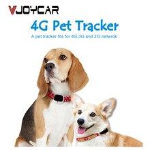 4G الكلب لتحديد المواقع المقتفي V43 جهاز مراقبة الصوت متتبع الحيوانات الأليفة بنظام جي بي إس في الوقت الحقيقي تتبع واي فاي القط محدد LTE + WCDMA + GSM Waterpoof IP67 التطبيق المجاني