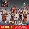 Envío gratis 1990 unids Lepin 05047 Aldea Ewok Star Wars Juguete para Construir Bloques de Construcción Juguetes de los Ladrillos de Regalo de Navidad 10236