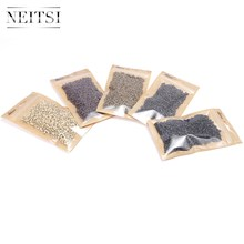 Neisti Silicone Micro Ring Beads Hair Extension Tools Tubes For Feather Hair Extensions 1000pcs/bottle 5 Colors Available(China)