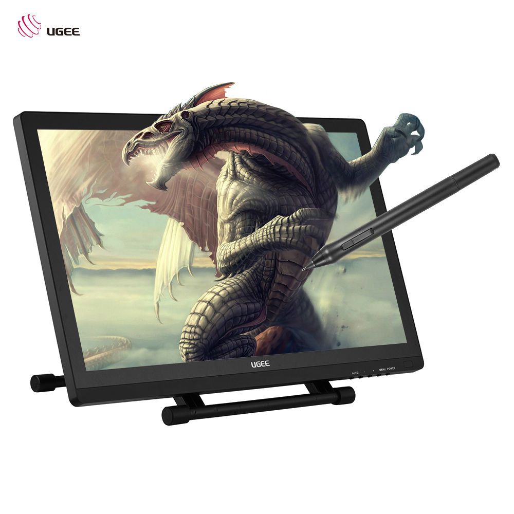 Ugee 2150 Graphics Drawing Screen 5080LPI 21.5 1080P HD Drawing Tablet Screen Stand Adjustable Intelligent Pen 2048 Level