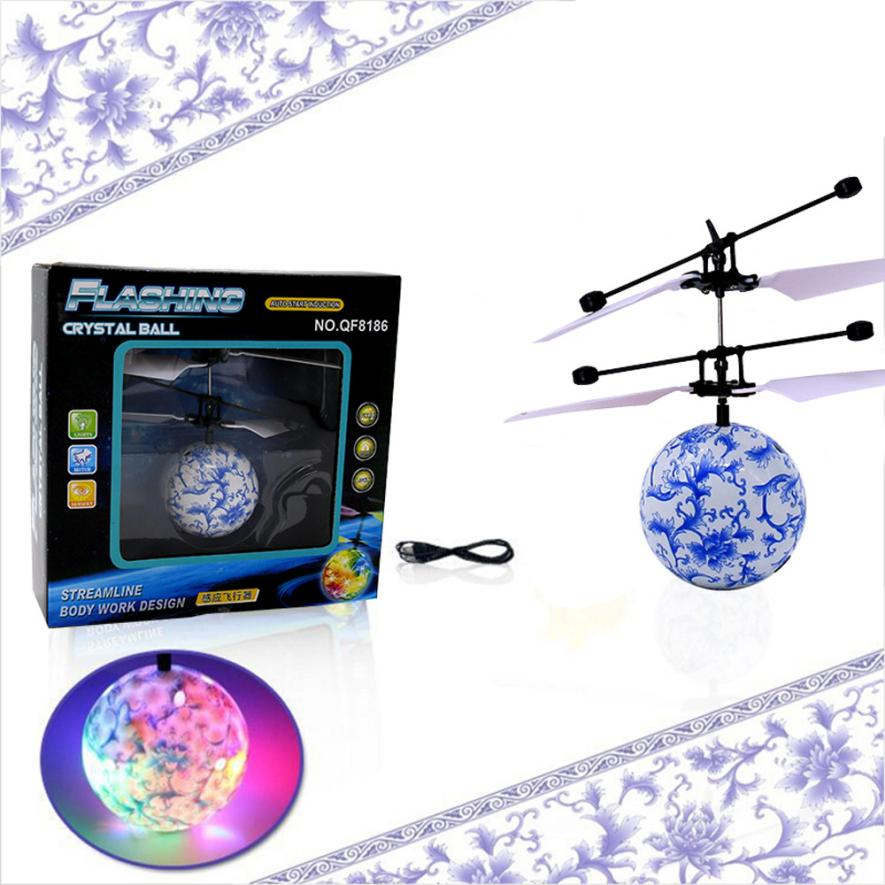 RC Flying Ball font b Drone b font Helicopter Ball Built in Shinning LED Lighting for