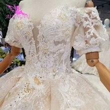 AIJINGYU magasin de mariage robes de mode Royal dentelle couleur conception robe dété Sexy robe de mariée courte