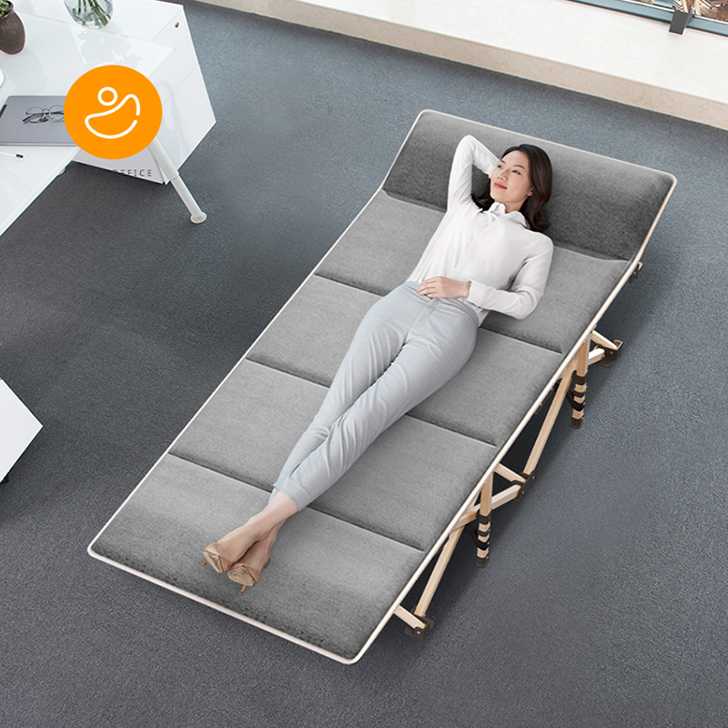 Simple Metal Chaise Folding Single Bed Heavy Duty Lounge Beds for Home Office Quick Nap Portable Easy Fold Room Saving Design