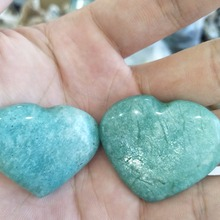 2pcs natural Amazonite stone crystal heart meditation healing mineral raw polishing collection