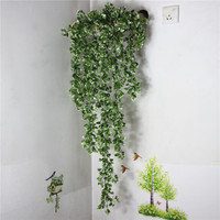 Home decoration Simulation rattan wall hanging restaurant cafe scene decoration fake plant wall vine Free Shipping