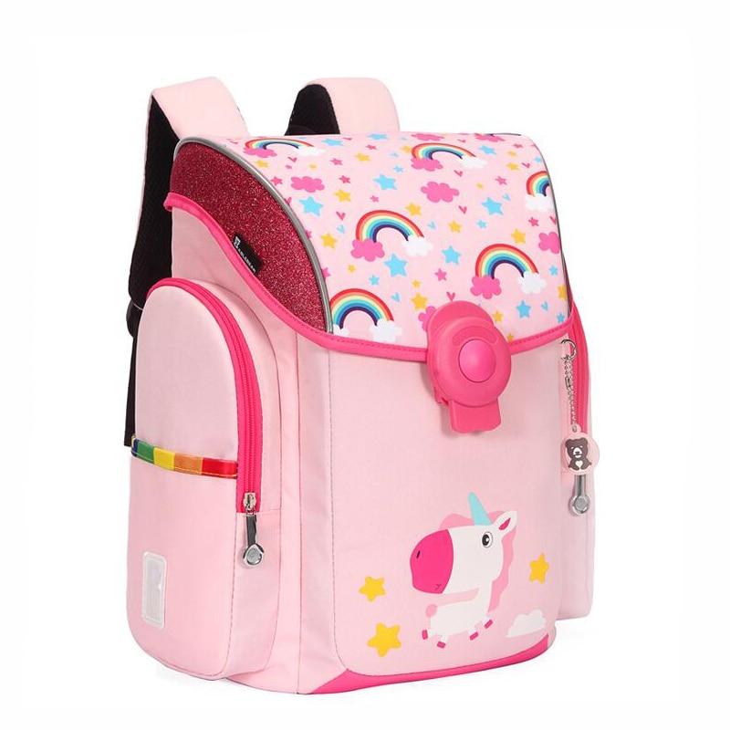 2019 NEW Brand Design Kids School Bag Cartoon Dinosaur Unicorn Zebra Backpack Boy And Girl Waterproof Orthopedics School Bags