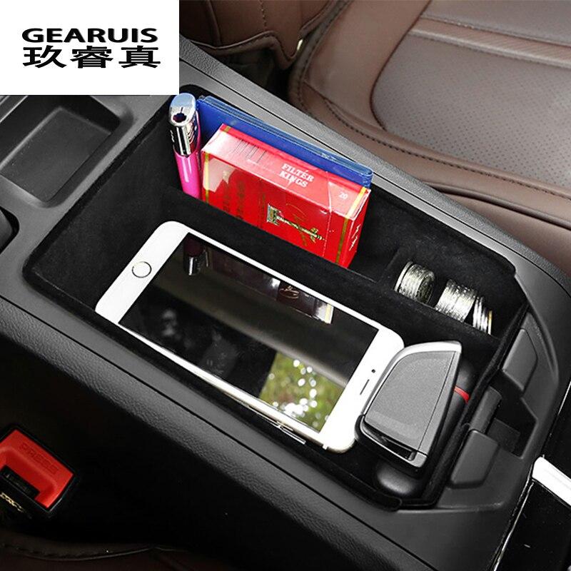 Estilo do carro Auto caixa de armazenamento central de braço remoldados luva tampa decoração Adesivo Para BMW X3 G01 Interior Auto Acessórios