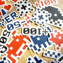 Pixel Paper Stickers Set