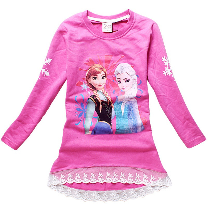 Elsa Anna long sleeve t shirt lace 1-6