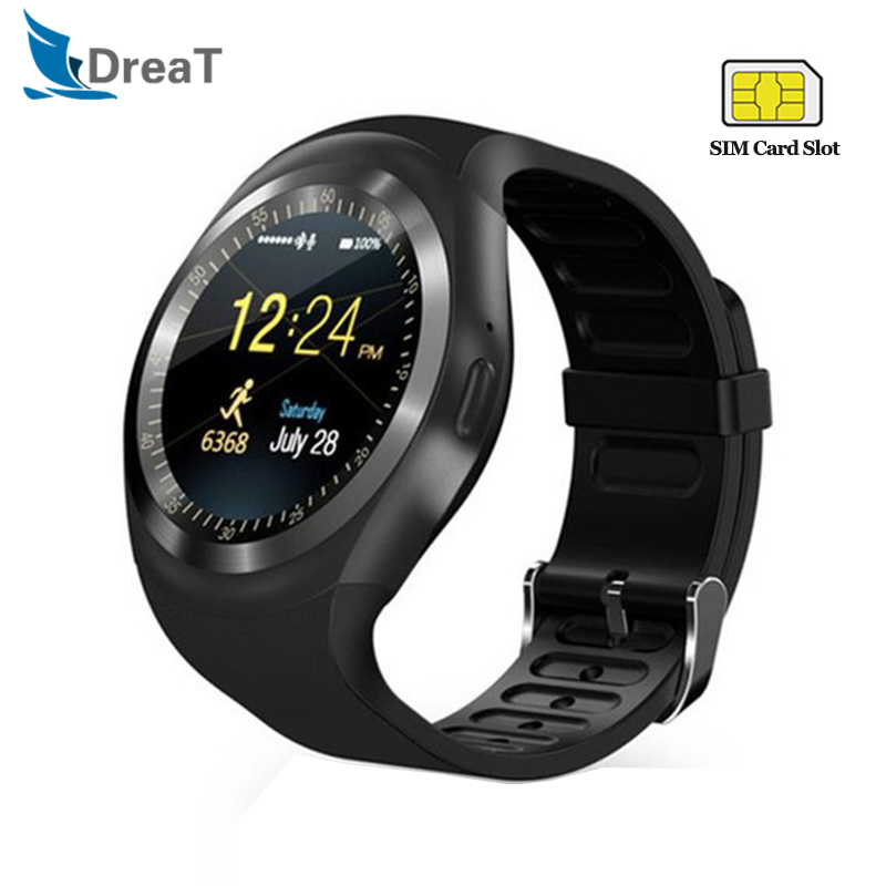 Y1 Smart Watch Men Women Relogio Call GSM Sim Card IP67 Waterproof Sports Pedometer Women Smartwatch