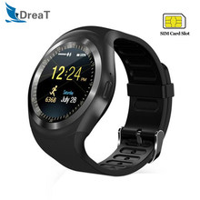 Y1 Smart Watch Men Women Relogio Call GSM Sim Card IP67 Waterproof Sports Pedometer Women Smartwatch For Android Phone PK DZ09(China)
