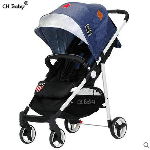 CH baby fold baby stroller super light 4.9kg pram in plane box baby can sit can lie child cart oxford fabric